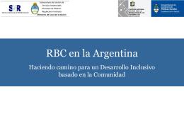 RBC en la Argentina: Haciendo camino para un desarrollo