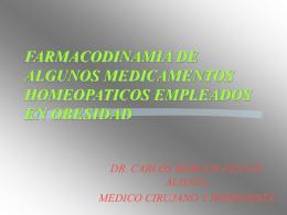 FARMACODINAMIA DE ALGUNOS MEDICAMENTOS …
