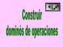 construir domino - Matematicas 2016