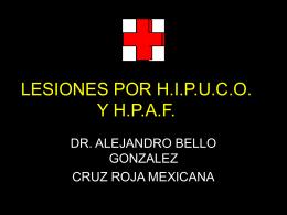 LESIONES POR H.I.P.U.C.O. Y H.P.A.F.