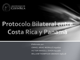 Protocolo Bilateral entre Costa Rica y Panam&#225