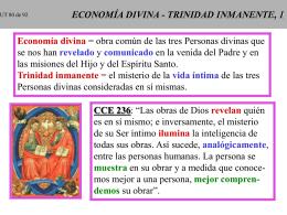 TRINIDAD ECONOMICA - TRINIDAD INMANENTE, 1