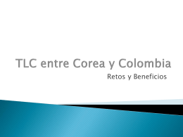 TLC entre Corea y Colombia