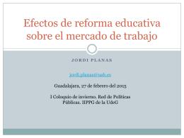 Interacciones entre reforma educativa y reforma laboral
