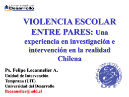 VIOLENCIA ESCOLAR ENTRE PARES (BULLYING)