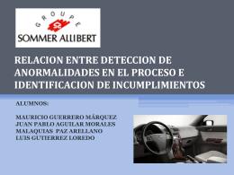 RELACION ENTRE DETECCION DE ANORMALIDADES EN …