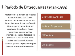 PERIODO DE ENTRE GUERRAS
