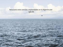 Relaciones entre las ciencias y las humanidades en