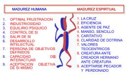 MADUREZ HUMANA MADUREZ ESPIRTUAL