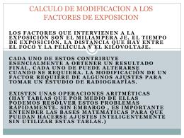 CALCULO DE MODIFICACION A LOS FACTORES DE …