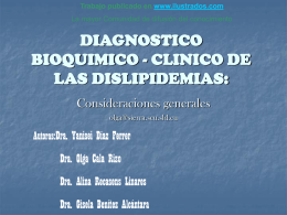 DIAGNOSTICO BIOQUIMICO CLINICO DE LAS …