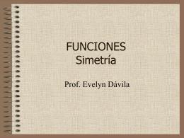 SIMETRIA DE FUNCIONES