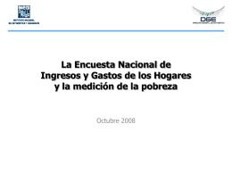 La Encuesta de Ingresos y Gastos de los Hogares (y otras