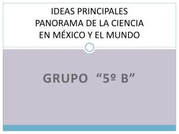 IDEAS PRINCIPALES PANORAMA DE LA CIENCIA EN …