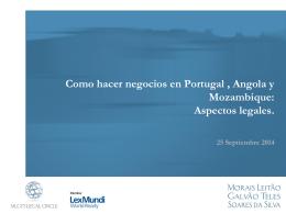 Como hacer negocios en Portugal , Angola y Mozambique
