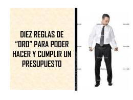 """DIEZ REGLAS DE """"ORO"""" PODER HACER Y CUMPLIR UN …"""