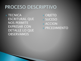 PROCESO DESCRIPTIVO