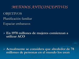 Tipos de Anticonceptivos Hormonales