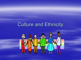 Culture and Ethnicity