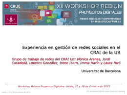 XII Workshop de Rebiun