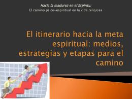 El itinerario hacia la meta espiritual: medios