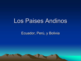 Los Paises Andinos - OnCourse Systems for Education