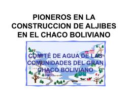 PIONEROS EN LA CONSTRUCCION DE ALJIBES EN EL …