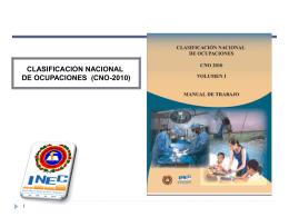 Clasificacion Nacional de Ocupaciones (CNO