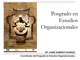 Posgrado en Estudios Organizacionales