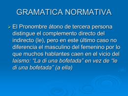 GRAMATICA NORMATIVA - Facultad de Humanidades