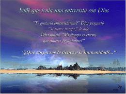 Entrevista. PREGUNTALE A DIOS