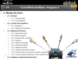 CURSO DE WINCH
