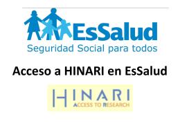 Acceso a HINARI en EsSalud