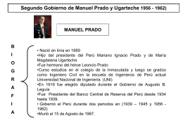 SEGUNDO GOBIERNO DE MANUEL PRADO