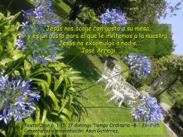 17 domingo Tiempo Ordinario -B-