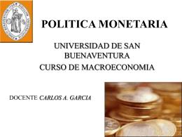 POLITICA MONETARIA - Bienvenidos al I.E.S. Dolmen de …