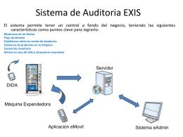 Sistema de Auditoria EXIScas t