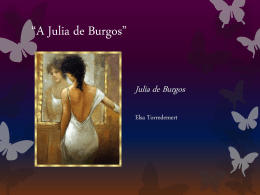 "A Julia de Burgos"" - John A. Ferguson Senior High School"