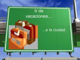 Ir de vacaciones…