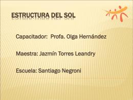 Las Estructuras del Sol