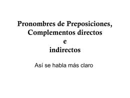 Pronombres de Complementos directos e indirectos