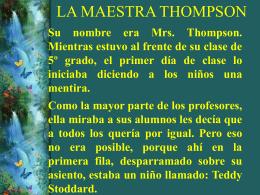 LA MAESTRA THOMPSON - ~~*Crecimiento Personal …