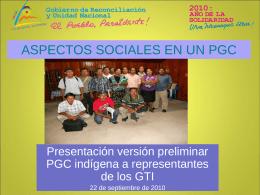 ASPECTOS SOCIALES DEL PGC EN EL CICLO DE PROYECTO