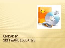 UNIDAD IV SOFTWARE EDUCATIVO - proyectos