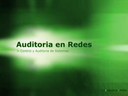 Auditoria en Redes