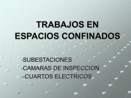 TARBAJOS EN ESPACIOS CONFINADOS