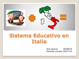 Sistema Educativo en Italia