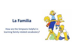 La Familia Vocabulario en contexto