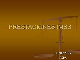 Prestaciones IMSS
