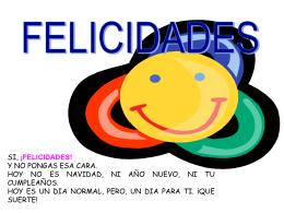 Reflexiones 'Felicidades'